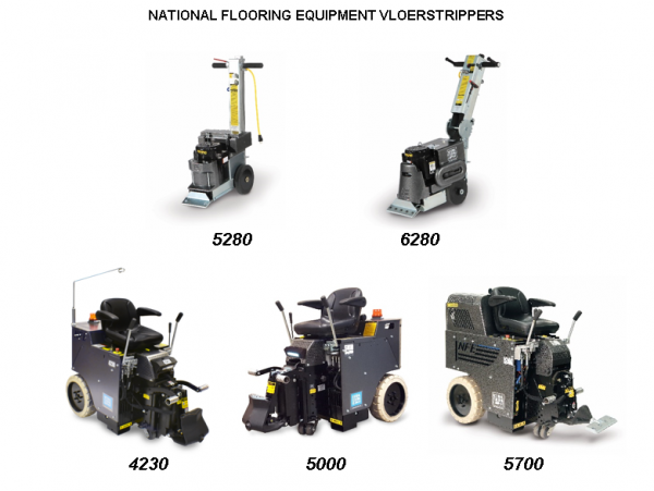 NATIONAL FLOORING EQUIPMENT VLOERSTRIPPERS