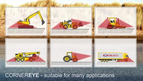 CornerEye alleen voor vrachtwagens? NO WAY ook voor grondverzetmachine's.