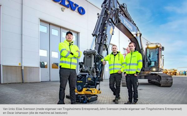 Eerste Volvo Smart Connect graafmachine uitgerust met engcon