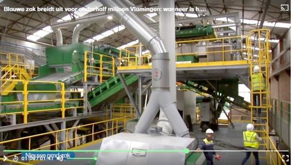 Uitbreiding sorteringsinstallatie in afvalverwerkingssite van Vanheede voor de nieuwe pmd-zak