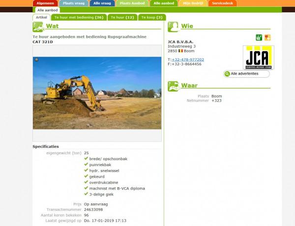 JCA uit Bornem nieuwe gebruiker wegenbouw.be webapplicatie